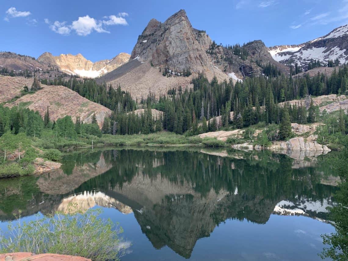 Sundial Peak overlooking Lake Blanche