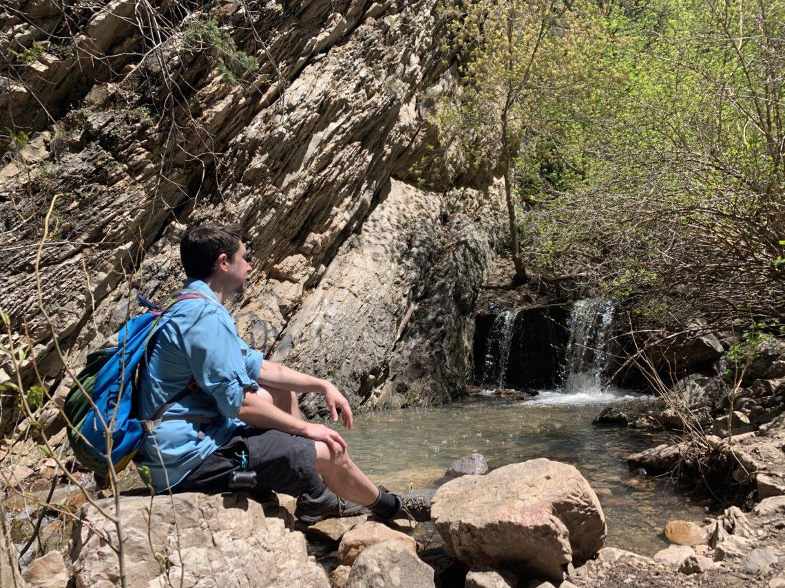 Adam hiking Neffs Canyon
