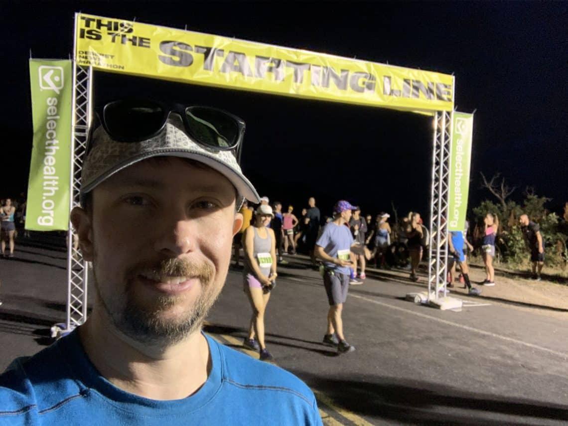 Getting ready to run the Pioneer Day Half Marathon!