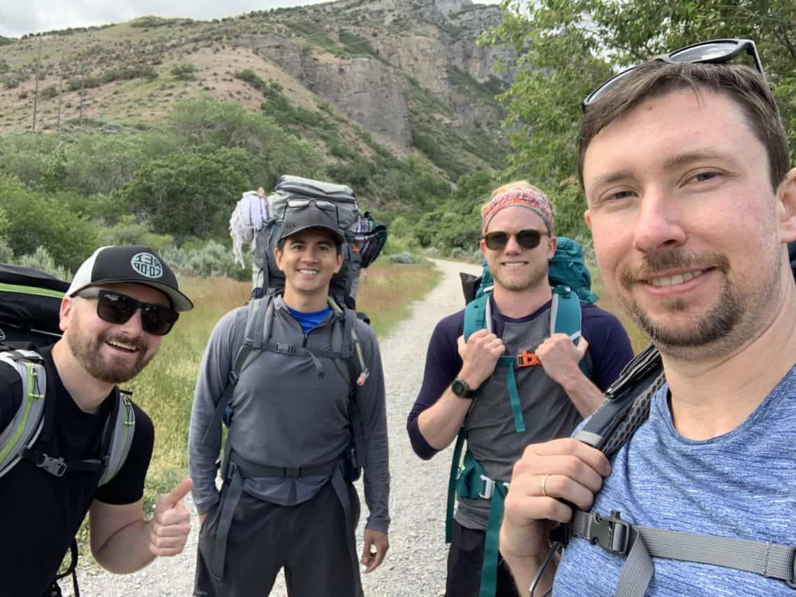 The 4 of us backpacking