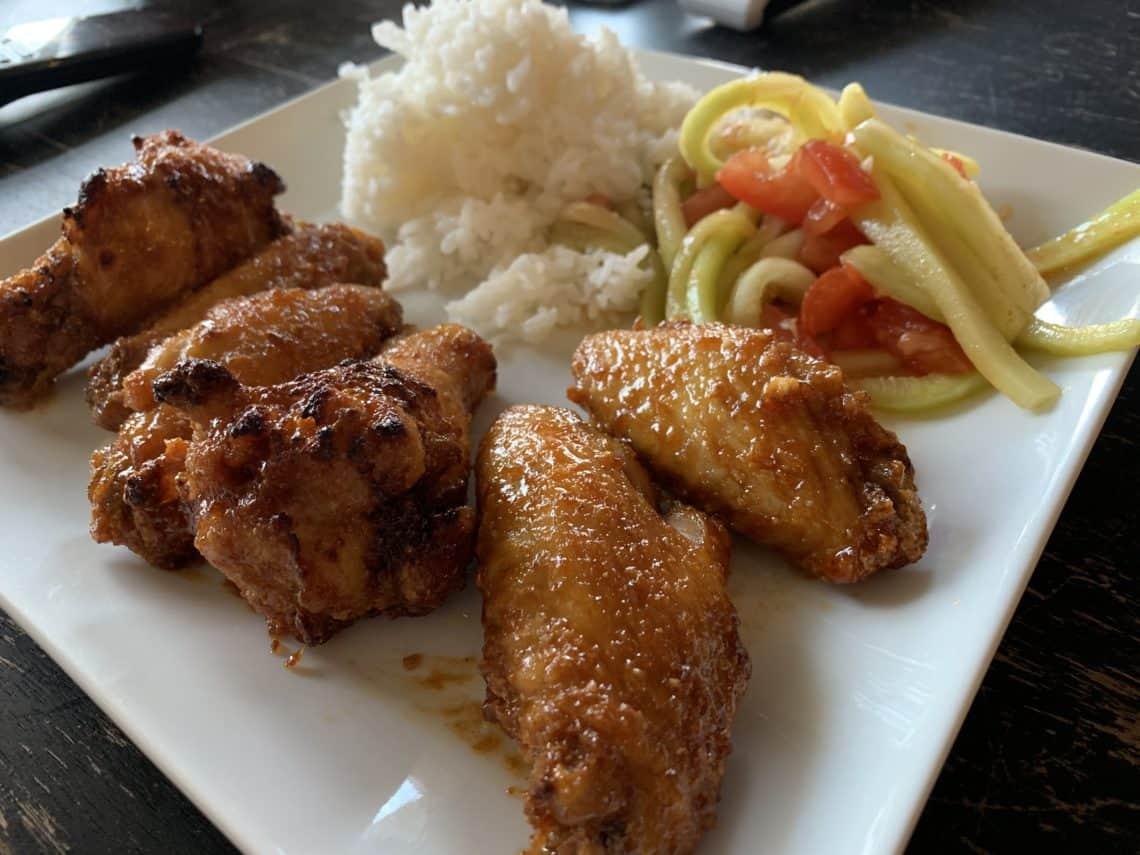 Korean Air-fried Chicken Wings!